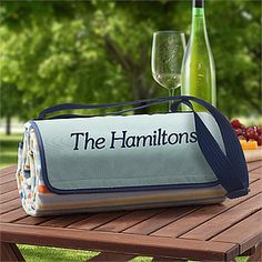 St. Tropez  Personalized Picnic Blanket Tote