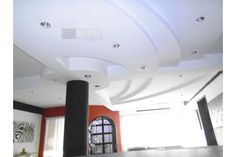 Diseño Elaborado en Escayola Gypsum, Martillos con Curvas e Iluminación Led Drywall, Accounting, Led, Curves, Interiors, Gypsum