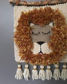 144 Likes, 26 Comments - Rya & Roving Weaving Textiles, Tapestry Weaving, Loom Weaving, Crochet Wall Hangings, Weaving Wall Hanging, Weaving Projects, Crochet Projects, Lion Tapestry, Diy Laine