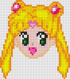 Sailor Moon perler bead pattern