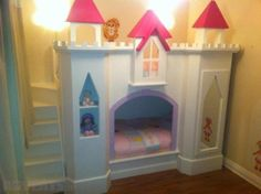 Gorgeous princess bunk beds...they would love this but it would only last a few years!