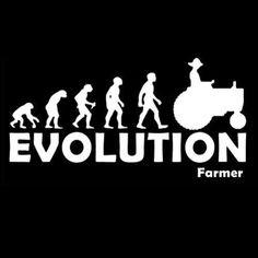 FARMER EVOLUTION (Rancher Farming Tractor Darwin Theory Biological Farm) T-SHIRT