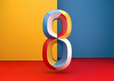 Colourful Numbers on Behance