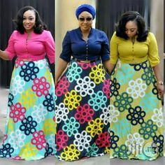 Gorgeous Turkey maxi dress is available in size 44-50. Please call or whatsapp on the number displayed on the contact option or DM on instagram @wildmusingsng for enquiries. Please note that I don't... African Print Dress Designs, African Print Skirt, African Print Dresses, African Print Fashion, Ankara Designs, Short African Dresses, Latest African Fashion Dresses, African Inspired Clothing, Mode Kimono