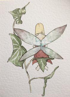 Easy Fairy Drawing, Fairy Drawings, Art Drawings Sketches, Cute Drawings, Watercolor Paintings, Original Paintings, Fairy Paintings, Fairy Art, Love Art