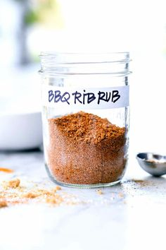 The best seasoning to put on ribs for fall-off-the-bone bites is a homemade dry rub made from spices and herbs you probably have sitting in your pantry right now. Bbq Rib Rub, Rub For Pork Ribs, Bbq Ribs, Marinade For Ribs, Pork Rub, Instant Pot Pork Ribs Recipe, Bbq Rub Recipe, Recipe Spice, Pork Rib Recipes