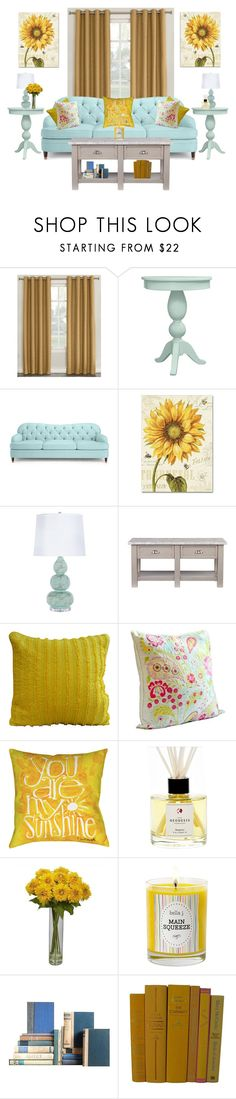 """""""You Are My Sunshine"""" by majezy ❤ liked on Polyvore featuring interior, interiors, interior design, home, home decor, interior decorating, Sun Zero, Kate Spade, Trademark Fine Art and WestPoint Home"""