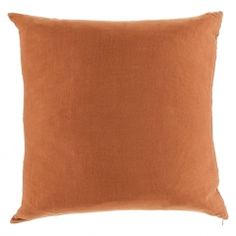 Linen Square Cushion Cover Terracotta