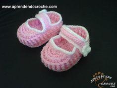 Sapatinho Bebê em Crochê Ingrid - Moda Bebê - Aprendendo Croche
