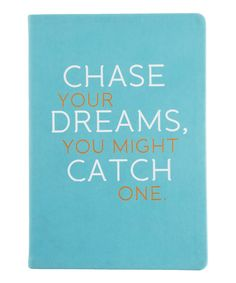 Aqua 'Chase Your Dreams' Journal