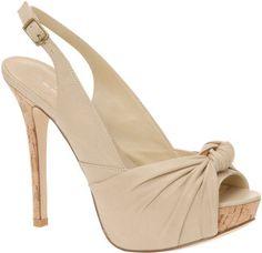 ALDO Tan Peekaboo Heels (Summer)