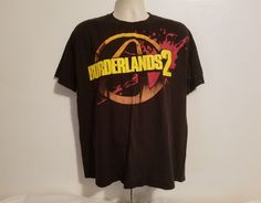 Borderlands 2 Adult Large Black TShirt Gearbox Gamestop #Gearbox #GraphicTee