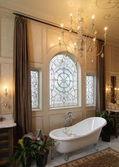 GlamBarbiE | SO ELEGANT!! A copper bathtub would look superb in this bathroom;)