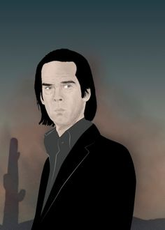 """Nick Cave"" music illustration by FSD on Society6  https://society6.com/product/nick-cave-avo_framed-print"