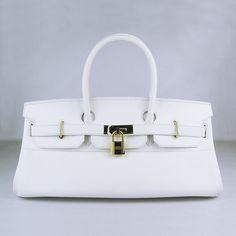 Luxury Replica Hermes Birkin 6109 Ladies White H0138 - luxuryhandbagsoutlet.com