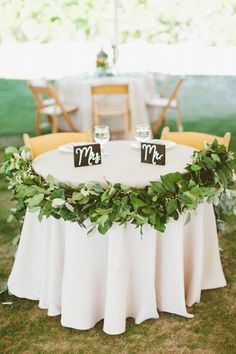 cute for a license signing table or sweetheart table