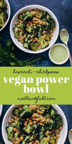 This delicious vegan power bowl is packed with plant-based protein and nutrients, to fuel your day! Vegan and gluten free. Best Vegetarian Recipes, Vegan Dinner Recipes, Whole Food Recipes, Cooking Recipes, Healthy Recipes, Cooking Tips, Healthy Food List, Healthy Eating, Healthy Foods