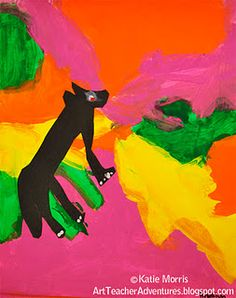 African themed animal art painting.