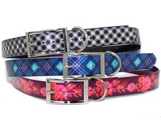 Introducing our brand new waterproof, dirtproof, stinkproof TITAN dog collar! Designed by Zaley Designs!  *These collars are ready to ship and will ship within 1-2 business days!*  These collars are pin-buckle type dog collars. They are webbing printed with our designs, encased in a
