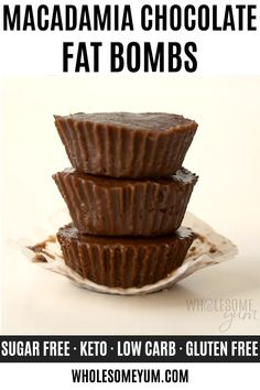 Keto Fat Bomb Recipe: Easy Chocolate Fat Bombs With Coconut Oil – You only need FIVE INGREDIENTS and 10 minutes prep to make the most delicious keto fat bomb recipe ever. These easy, ketogenic chocolate fat bombs with coconut oil,… Continue reading → Keto Chocolate Fat Bomb, Low Carb Chocolate, Chocolate Recipes, Coconut Oil Chocolate, Chocolate Cheesecake, Low Carb Low Fat, Keto Fat, Coconut Fat Bombs, Low Carb Candy