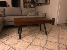 4x red wood lumber and a pair of steel legs, as simple as that. Diy Table Legs, Wood Lumber, Red Wood, Dining Bench, Steel, Trending Outfits, Simple, Furniture, Etsy