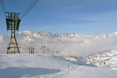 Alpe d Huez ski resort, Rhone Alpes, France colour print by Andy Evans Photos