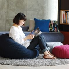 PUUF chair by IDEE Muji, Floor Chair, Bean Bag Chair, Sweet Home, Couch, Architecture, Interior, Shopping, Furniture