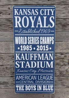 NEW Kansas City Royals Baseball Subway Style by BasementWorkshop1
