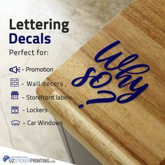 Custom Vinyl Lettering and Numbers Custom Vinyl Lettering, Custom Decals, Custom Stickers, Sticker Printing, Letter Decals, Cheap Vinyl, Marketing Branding, Window Art, Decorate Your Room