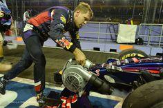 Sebastian Vettel, Red Bull, Singapore, Friday practice, 2014