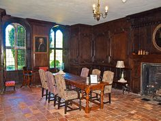 A panelled room in Littlecote House Hotel in Wiltshire by Anguskirk, via Flickr