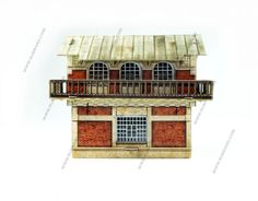 Junction station cardboard model H0 scale 1/87