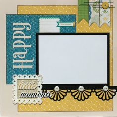 Premade Scrapbook Page 12 x 12 Layout Happy by designstudioL