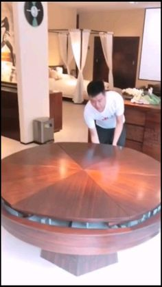 Winners Only Round Counter Height Dining Table with Lazy Susan Round Dinning Room Table, Dining Table Design, Circular Dining Table, Dining Tables, Dining Room, Cool Furniture, Furniture Design, Sweet Home, New Homes