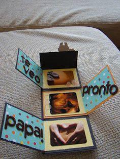 Hola a tod@s !! Vaya ... hace ya mucho tiempo que no escribía... han sido y están siendo unos meses de mucha alegría pero algo complicados ... Love Gifts, Diy Gifts, Mini Albums, Ideas Aniversario, Diy And Crafts, Paper Crafts, Baby Shawer, Baby Cards, Creative Gifts