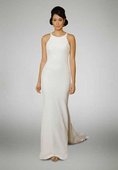 Matthew Christopher Aniston Sheath Wedding Dress
