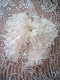 Shabby Fabric Angel Wings French Country Cottage Style Christmas