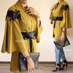 Luxurious cardigan with embroidered details on shoulders and leather strap - - Modern Hijab Fashion, Hijab Fashion Inspiration, Abaya Fashion, Muslim Fashion, Modest Fashion, Fashion Dresses, Casual Hijab Outfit, Hijab Chic, Classy Casual
