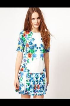 WAREHOUSE floral print mini dress £24 Luxury Boho Fashion
