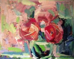 Peonies in a Vase by Ina Shtukar | acrylic painting