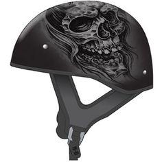 GMax GM65 Ghost RIP Naked Half Helmet - Motorcycle Superstore