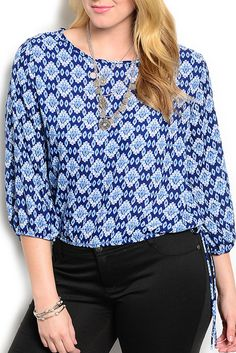 DHStyles Women's Blue White Plus Size Trendy Dressy Floral Print Tie Front Top #sexytops #clubclothes #sexydresses #fashionablesexydress #sexyshirts #sexyclothes #cocktaildresses #clubwear #cheapsexydresses #clubdresses #cheaptops #partytops #partydress #haltertops #cocktaildresses #partydresses #minidress #nightclubclothes #hotfashion #juniorsclothing #cocktaildress #glamclothing #sexytop #womensclothes #clubbingclothes #juniorsclothes #juniorclothes #trendyclothing #minidresses…