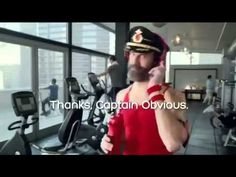 Hotels.com Commercial 2015 Captain Obvious Workout - YouTube