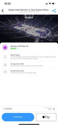 Tickpick iOS Design Patterns - Mobbin