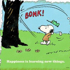 Happiness is learning new things.