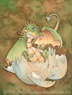 Duncan Baby Dragon Hatchling by James Browne