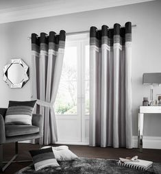 Geise Eyelet Room Darkening Curtains Brayden Studio Colour: Grey, Size per Panel: 167 W x 183 D cm Fitted Bed Sheets, Linen Sheets, Grey Bedding, Linen Bedding, Bed Linen, Plaid Bedding, Grey Curtains, Curtains Living, Lined Curtains