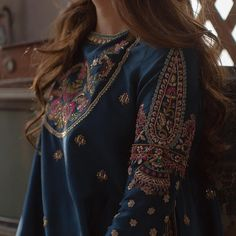 While designing this collection we had one very clear direction: the perfect reflection of the essence of Mahira Khan and Zara Shahjahan. Pakistani Couture, Pakistani Bridal Dresses, Pakistani Outfits, Indian Dresses, Indian Outfits, Wedding Dresses, Embroidery Suits, Embroidery Fashion, Beaded Embroidery