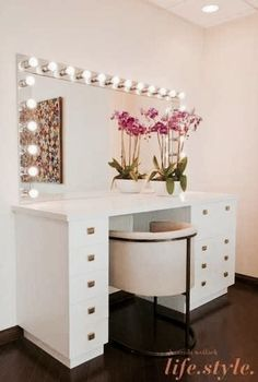 Lit vanity
