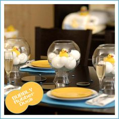 Bubbly Rubber Duck Baby ShowerTheme - Blog - Parties with a TRENDY touch